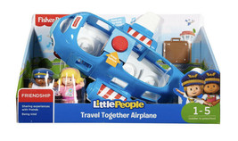 Fisher- Little People Travel Together Airplane with Pilot Kurt & Emma Fi... - $14.85