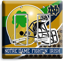 NOTRE DAME COLLEGE FOOTBALL TEAM 2 GFCI LIGHT SWITCH WALL PLATES DORM RO... - $12.99