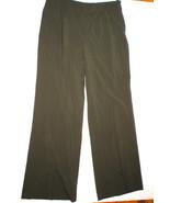 New Womens Worth New York Olive Pants Dark Green Slacks Office Work 12 N... - $282.50