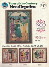 DMC Turn of the Century Needlepoint Chart 1900 VICTORIAN #15202 Vtg Design - $19.79
