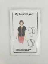 Pauline Richards My Favorite Vest Sewing Pattern 2005 S M L XL Bust 33-4... - $12.00
