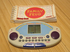 Family Feud Electronic Handheld Game Cartridge And Survey Book Tiger 199... - $14.89