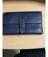 Patricia Nash Clutch Wallet Leather Navy Blue - $51.18