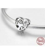I LOVE YOU MOM 925 Authentic Silver Crystal Original Pandora Charm Brac... - $9.95