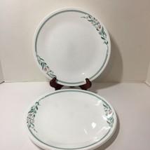"""3 Dinner Plates Rosemarie Corelle 10.25"""" Pink Flowers Green Leaves - $19.34"""
