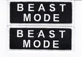 2 Beast Mode SEW/IRON On Patch Embroidered Marshawn Lynch Seattle Seahawks - $7.50