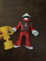 Fisher Price Imaginext Figure blind bag series 1 Race Car Driver red Tro... - $14.84