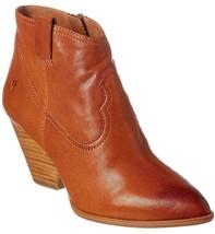 Frye Women's Reina Cognac Leather Western Ankle Bootie 3479257-COG NIB image 1