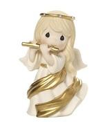 Precious Moments Make A Joyful Noise Angel With Flute Bisque Porcelain F... - $29.59