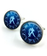 Aquarius Cufflinks| horoscope cufflinks| zodiac cufflinks| Aquarius star... - $12.99