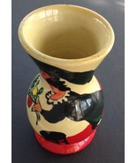 Vintage Painted Russian Lacquer Vase, Chagall Style Image, Signed Shagal... - $14.90