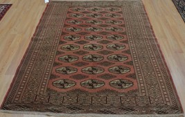 4'4x6'9 Top Quality KPSI 200 Authentic Antique Tribal Hand Knotted Wool ... - $395.01