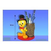 Extremely Rare! Looney Tunes Tweety Lifesize Umbrella Stand Figurine Statue - $626.41