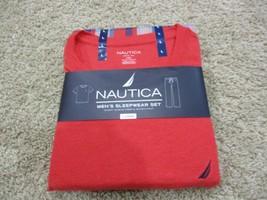 BNWT Nautica 2pc Men's sleepwear set, Short sleeve Crew & woven pant, Size L - $24.75