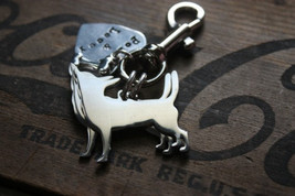 Two Chihuahuas Custom Keychain Dog Lover Keyring - $24.00