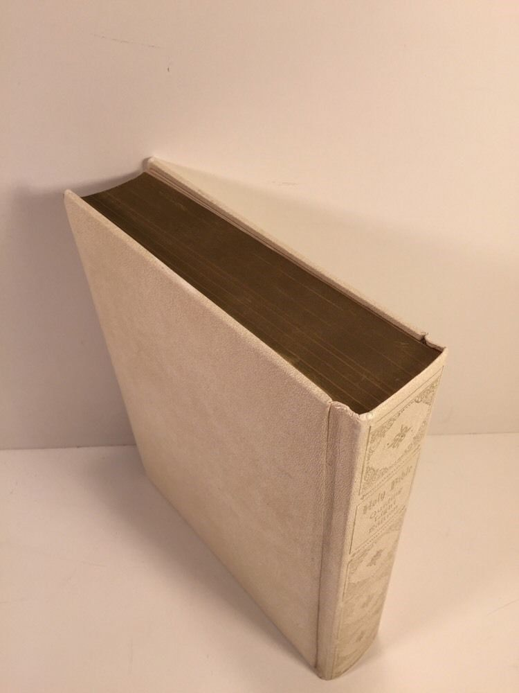 Vintage 1965 HOLY BIBLE Guiding Light Edition White Leather Hardcover Book