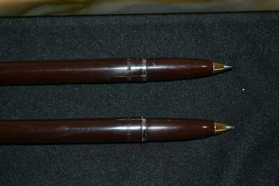 Vintage Sheaffer M15 White Dot Ball Point Pen Desk Set FREE SHIP*