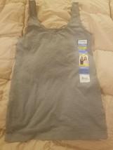 NWT Womens Gray ELLEN TRACY Reversible V-Neck or Scoop Camisole Medium - $8.90