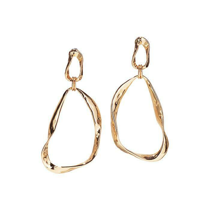 Primary image for Avon Modern Sculpted Hoop Earrings