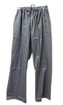 Gray Drawstring Elastic Waist Medium Medical Uniform Scrub Pants Unisex New - $19.57
