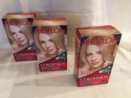 Revlon Colorsilk Schöne Farbe Haarfarbe 3D Mittelblond Nummer 74 3xBoxes - $22.71