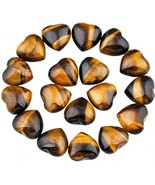 Rockcloud Healing Crystal 0.5 Inch Tiger's Eye Carved Worry Stone Chakra... - $30.40