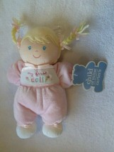 Child Of Mine My First Doll Blonde Braid Pigtails Plush Toy Lovey Rattle... - $39.59