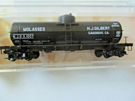 Micro-Trains # 06500186 HJ Gilbert Molasses 39'  Tank Car Car # 6 N-Scale image 1