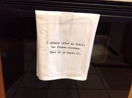 The Best Message Kitchen Gift Towel  Made in USA by Hand image 2