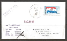 1978 Paquebot Cover South Africa stamp used in Freeport, Texas (Sep 22) - $5.00