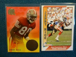 Fleer Ultra And 1991 Pacific Cards Of Hall Of Famer Jerry Rice N/M To Mint - $3.96