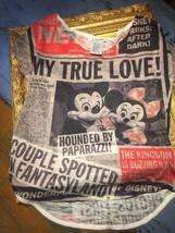 Disney Parks Mickey Minnie Mouse Top Xs Paparazzi News Flash Romance Shirt New - $12.15