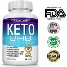 Keto Pills Advanced Weight Loss BHB Salt - Natural Ketosis Fat Burner Us... - $31.70