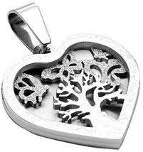 Jusnova Stainless Steel Tree Of Life Pendant Necklace For Women Girls W... - $16.27