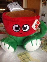 Gund Hot Cocoa w Marshmallows Red & Green Cup w Handle Stuffed Plush New... - $14.99