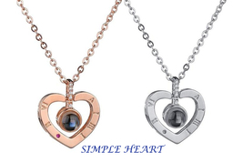 "XUFAN Romantic Projection (""I Love You"") Ladies Pendant - Various Styles, CZ image 10"