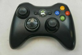 Official Microsoft Xbox 360 Black Wireless Controller Genuine - working used - $24.75