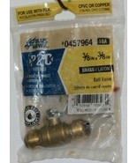 Blue Hawk 0457964 P2C Brass Fitting Ball Valve Removable - $9.48