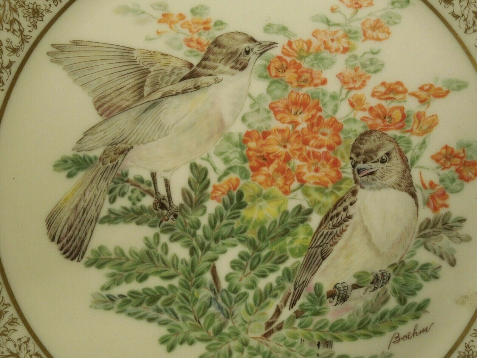 Vintage 1975 Lenox Presents Limited Edition Boehm Eastern Phoebe Birds Plate