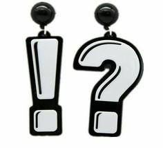 New Acrylic Question & Exclamation Mark Drop Earrings For Women Long Dan... - $13.15