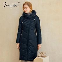 Women's  New Style Warm Solid Quilted Windproof Parka Coat image 2