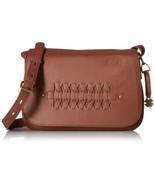 Lucky Brand Brown Saddle Weaved Flap Crossbody Brandy Handbag Purse NWT NEW - $199.99