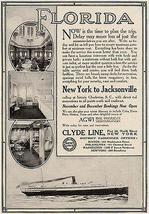 Clyde Line Florida New York to Jacksonville AGWI Lines Interior Views 19... - $15.99
