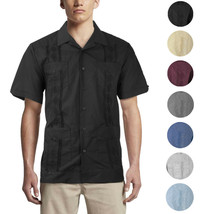 Alberto Cardinali Men's Guayabera Short Sleeve Cuban Casual Dress Shirt image 1