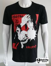 Mens Naruto Shippuden Graphic Tee T Shirt Short Sleeve Black 110% Soft C... - $21.52