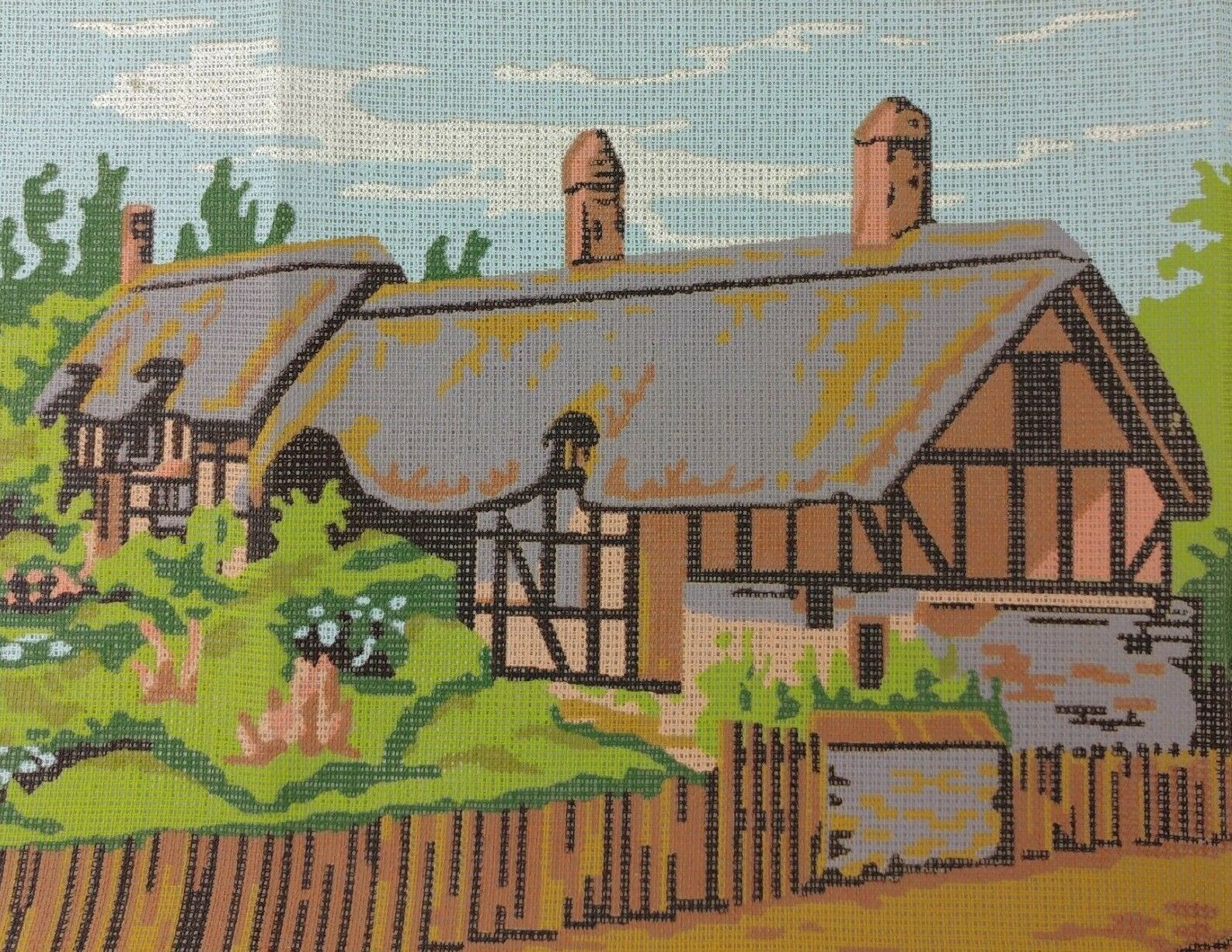Primary image for Cottage Needlepoint Kit Twilleys of Stamford Thatched Roof Wool UK Anne Hathaway