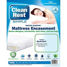 Clean Rest SimpleWater-Resistant, Allergy and Bed Bug Blocking Mattress Encaseme