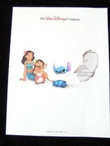 Walt Disney Company Annual Report 2001 Disneyland Disneyworld Monsters I... - $14.99