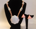 Set necklace earrings pink shell  1    jc thumb155 crop