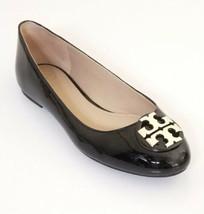 Tory Burch Claire Patent Ballet Flat Patent Leather Size 9 Color Black /... - $188.09